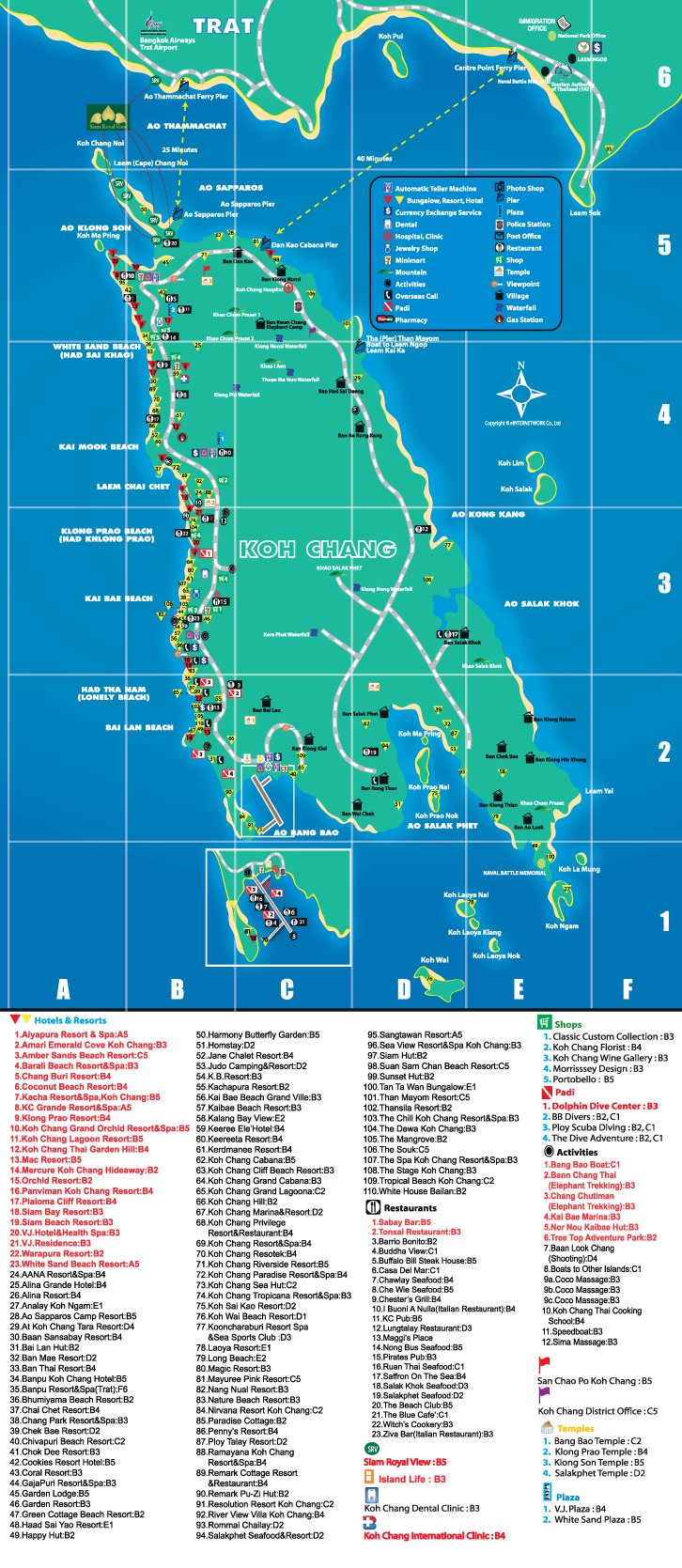 map koh chang