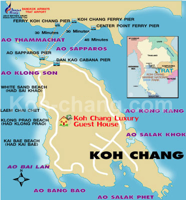 Hotel Location Map Koh Chang Luxury Boutique