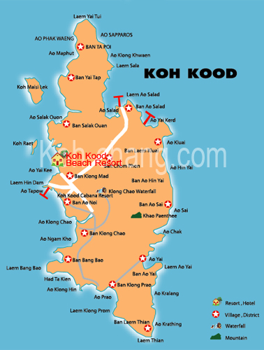 Hotel Location Map Koh Kood Beach Resort